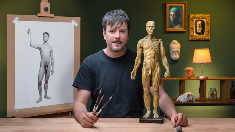 Dibujo realista de la figura humana