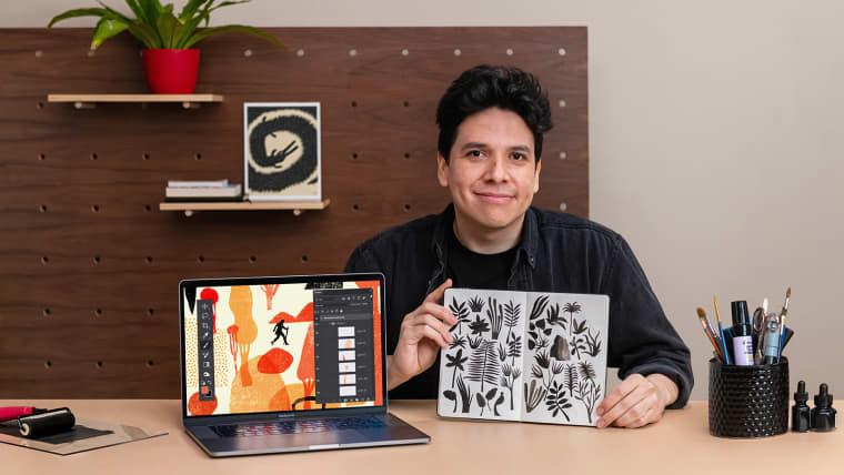 Sketchbook criativo para projetos de ilustração