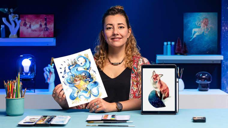 Techniques d'aquarelle pour des illustrations féériques