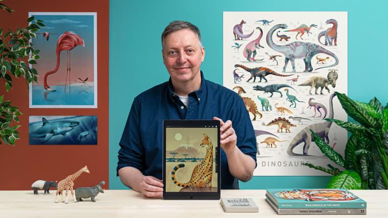 Illustrazione di animali selvatici nei libri per l'infanzia