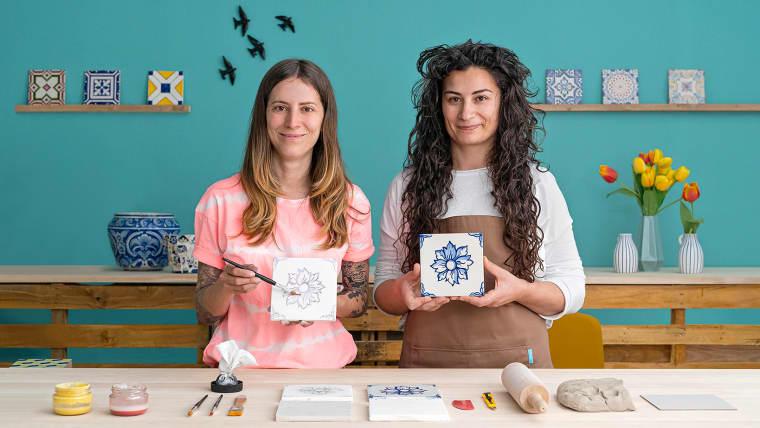 Diseño y creación de azulejos portugueses
