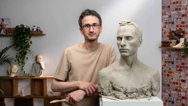 Ritratto con argilla: modella un volto a grandezza naturale