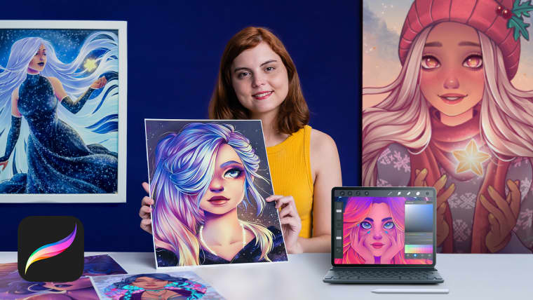 Female Character Portraits in Procreate