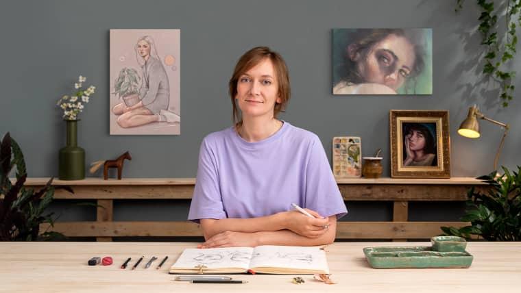 Sketchbook de retrato: explora el rostro humano