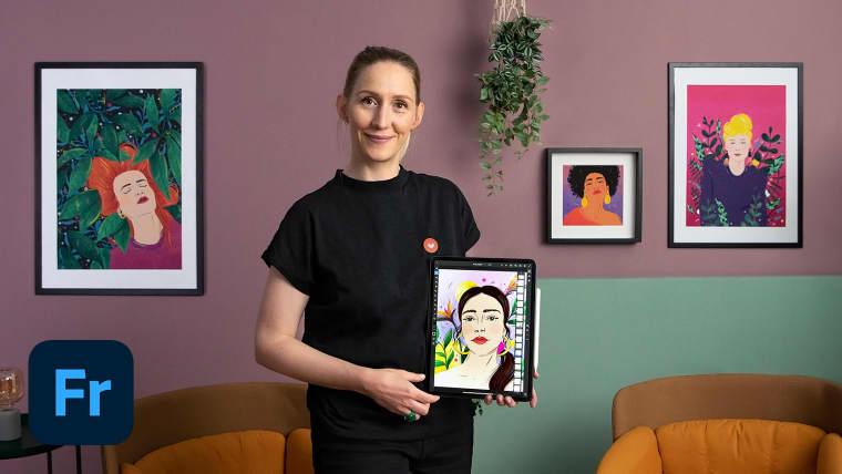 Ilustración de retratos: Adobe Fresco para principiantes