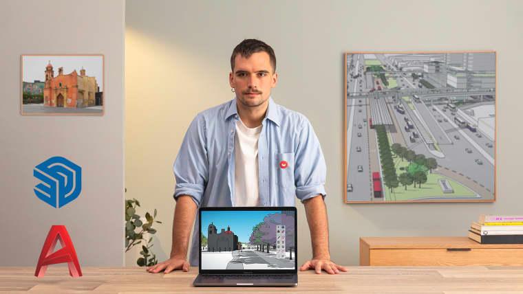 Dessin et modélisation d'espaces urbains sur AutoCAD et SketchUp