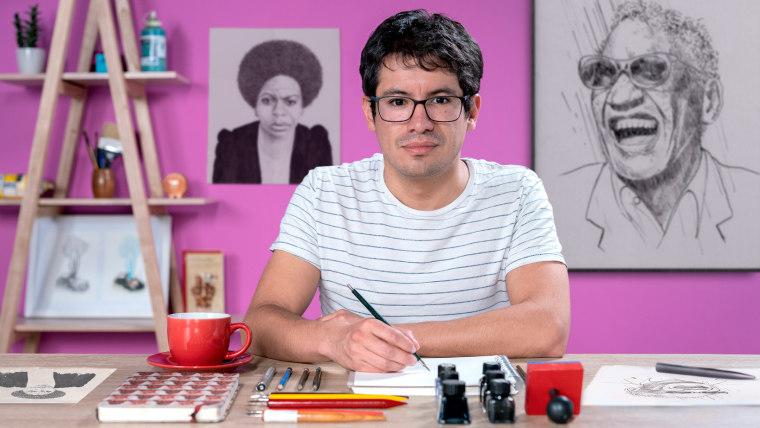 Introducción al retrato con tinta china y plumilla