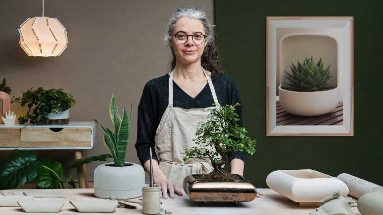 Design de vasos em cerâmica
