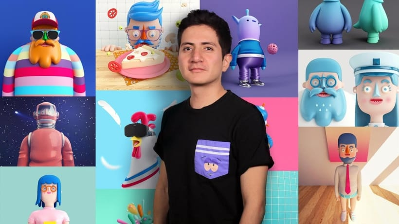 Design of Characters in Cinema 4D: from the Sketch to 3D Printing