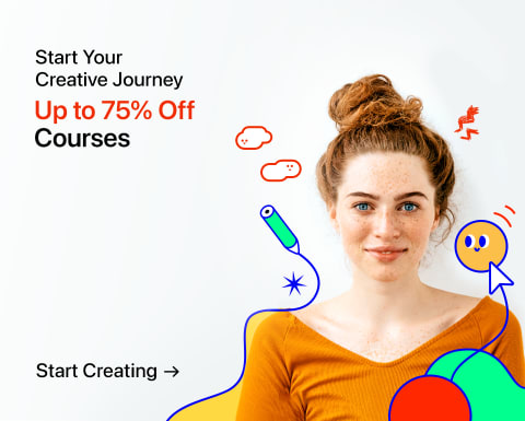 Enjoy Creative Courses with up to 75% Off