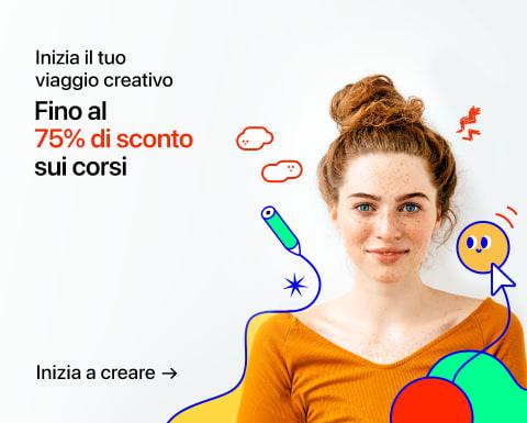 Approfitta dei migliori corsi creativi con sconti fino al 75%