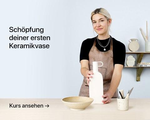 Schöpfung deiner ersten Keramikvase. Ein Kurs von Lilly Maetzig.