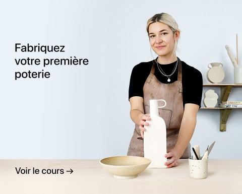 Fabriquez votre première poterie. Un cours de Lilly Maetzig.