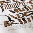 Fähigkeit. Trabajo personal, interpretación caligráfica de un texto de Rudolf Koch.. A T und pografie project by Ivan Castro - 06.04.2014