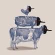 Diez mentiras sobre la comida.. Un proyecto de Ilustración de Sr. García - 27.10.2014