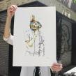Mr. Rabbit. Un proyecto de Ilustración y Serigrafía de Barba - 11.06.2013