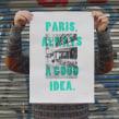 Paris, always a good idea. Um projeto de Fotografia, Serigrafia e Tipografia de Barba - 11.11.2013