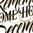 Calendario Ajúa 2015. Un proyecto de Diseño gráfico y Caligrafía de Victor Kams - 02.12.2014