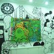 Lienzo+ Mural para tienda. Un proyecto de Ilustración, Bellas Artes y Pintura de Del Hambre - 22.12.2014