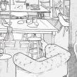 Boceto Set Rodaje Allianz. Un proyecto de Ilustración, Publicidad, Cine, vídeo, televisión y Diseño de interiores de Luaiso Lopez - 05.06.2014