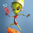 Alien. A 3D, Animation, Character Design, and Sculpture project by Luis Arizaga - 10.18.2015