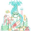 Perrier. Un proyecto de Diseño, Ilustración, Br e ing e Identidad de Carlos Arrojo - 14.08.2015