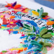 """Imagina es fácil: Bordado para el libro """"Diario de una volátil"""" de Agustina Guerrero. Un proyecto de Diseño, Ilustración, Dirección de arte, Artesanía, Bellas Artes, Diseño gráfico y Bordado de Señorita Lylo - 23.02.2016"""