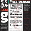 Presidencia Sans | Familia tipográfica institucional para el gobierno federal de México. Un proyecto de Tipografía de GM Meave - 18.04.2016