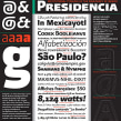 Presidencia Sans | Familia tipográfica institucional para el gobierno federal de México. A T, and pograph project by GM Meave - 04.18.2016