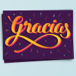 Gracias. A Design, Graphic Design, and Screen-printing project by BlueTypo - 10.08.2015