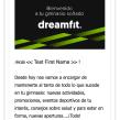Diseño Campaña Móvil DreamFit - Email Marketing. Un proyecto de Marketing de Néstor Tejero Bermejo - 20.09.2016
