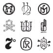 Monogramas (varios clientes). A Br, ing und Identität, T, pografie und Kalligrafie project by Quique Ollervides - 18.06.2014