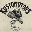 KUSTOMOTORS Cafe garage . A Illustration, Br, ing, Identit, T, and pograph project by Abraham García - 02.11.2016