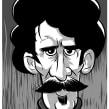 Viajero del tiempo con bigote.. Un proyecto de Ilustración de Iker J. de los Mozos - 17.03.2017
