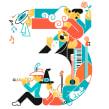 Music numbers. Un proyecto de Ilustración, Diseño editorial y Diseño gráfico de Carlos Arrojo - 03.04.2017