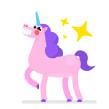 Unicorn Stickers Pack. Um projeto de Animação e Animação de personagens de Moncho Massé - 01.05.2017