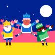Christmas Characters. Um projeto de Animação, Animação de personagens e Ilustração vetorial de Moncho Massé - 22.01.2018
