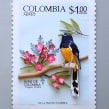 Sello postal de Colombia . A Illustration, Character Design, Crafts, Editorial Design, Fine Art, L, scape Architecture, and Papercraft project by Diana Beltran Herrera - 01.30.2018