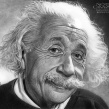 Albert Einstein en Lápices de Grafito. Un proyecto de Ilustración de Néstor Canavarro - 13.02.2018