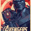 Thanos print.. A Illustration, Vector Illustration, and Digital illustration project by Abraham García - 06.06.2018