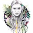 Oysho 2014.. Un proyecto de Ilustración e Ilustración de retrato de Beatriz Ramo (Naranjalidad) - 15.06.2014