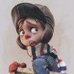 Pequeño niño sosteniendo pizarron. Un proyecto de 3D, Diseño de personajes, Escultura, Animación de personajes y Modelado 3D de Matias Zadicoff - 24.08.2018