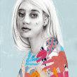 Mi Proyecto del curso: Retrato con lápiz, técnicas de color y Photoshop. Un proyecto de Ilustración, Dibujo a lápiz, Dibujo y Dibujo artístico de Beatriz Ramo (Naranjalidad) - 13.09.2018