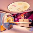 Sala de Resonancia Magnetica IOIR. A Illustration, Set Design, and Children's Illustration project by Juan Villamil - 04.07.2019