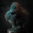 king kong _ test fibermesh. Um projeto de Animação 3D, Modelagem 3D e Design de personagens 3D de Luis Alberto Gayoso Berrospi - 01.05.2019
