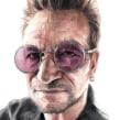 Bono (La Luna de Metrópoli). Um projeto de Desenho, Pintura em aquarela, Desenho de Retrato, Desenho realista e Desenho artístico de Carlos Rodríguez Casado - 14.05.2019