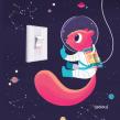 Espacial. Un proyecto de Ilustración de Raeioul - 23.05.2019