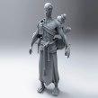 Gandam, the Pilgrim - Sculpt. Un proyecto de 3D, Escultura, Modelado 3D y Diseño de personajes 3D de David Chumilla - 31.05.2019