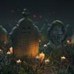 Photogrammetry Meshes - Tombstones and Halloween Scene. Un proyecto de 3D, Diseño de juegos, Modelado 3D y Videojuegos de David Chumilla - 31.05.2019