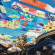 Patterns para instalación en Mirador de Alto Las Condes. Un proyecto de Ilustración, Instalaciones, Arquitectura, Bellas Artes, Pintura y Arte urbano de Josefina Jiménez - 05.06.2019